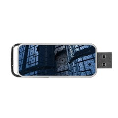 Graphic Design Background Portable Usb Flash (two Sides) by Nexatart