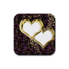 Lover Romantic Couple Apart Rubber Square Coaster (4 Pack)  by Nexatart