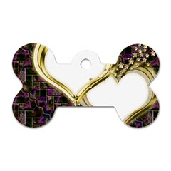 Lover Romantic Couple Apart Dog Tag Bone (one Side) by Nexatart