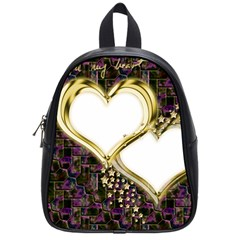 Lover Romantic Couple Apart School Bags (small)  by Nexatart
