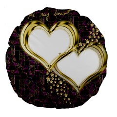 Lover Romantic Couple Apart Large 18  Premium Flano Round Cushions by Nexatart