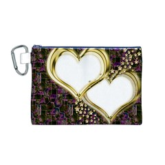 Lover Romantic Couple Apart Canvas Cosmetic Bag (m) by Nexatart