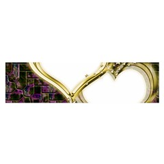 Lover Romantic Couple Apart Satin Scarf (oblong) by Nexatart