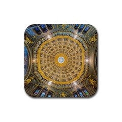 Arches Architecture Cathedral Rubber Square Coaster (4 Pack)  by Nexatart