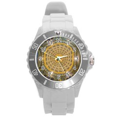 Arches Architecture Cathedral Round Plastic Sport Watch (l) by Nexatart