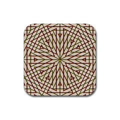 Kaleidoscope Online Triangle Rubber Square Coaster (4 Pack)  by Nexatart