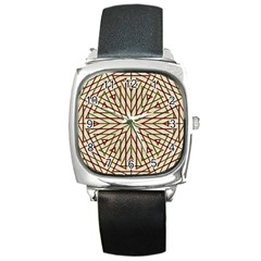 Kaleidoscope Online Triangle Square Metal Watch by Nexatart