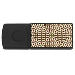 Kaleidoscope Online Triangle Usb Flash Drive Rectangular (4 Gb) by Nexatart
