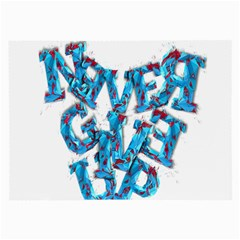Sport Crossfit Fitness Gym Never Give Up Large Glasses Cloth (2 Side) by Nexatart