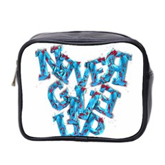 Sport Crossfit Fitness Gym Never Give Up Mini Toiletries Bag 2 Side by Nexatart