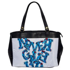 Sport Crossfit Fitness Gym Never Give Up Office Handbags by Nexatart