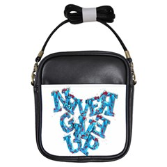 Sport Crossfit Fitness Gym Never Give Up Girls Sling Bags by Nexatart