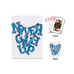 Sport Crossfit Fitness Gym Never Give Up Playing Cards (mini)  by Nexatart