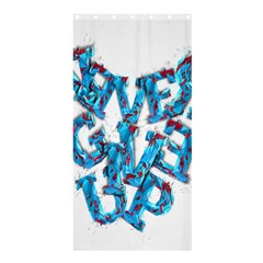 Sport Crossfit Fitness Gym Never Give Up Shower Curtain 36  X 72  (stall)  by Nexatart