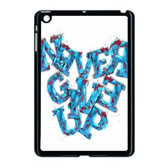 Sport Crossfit Fitness Gym Never Give Up Apple Ipad Mini Case (black) by Nexatart