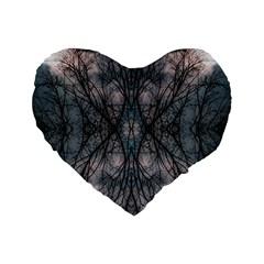Storm Nature Clouds Landscape Tree Standard 16  Premium Flano Heart Shape Cushions by Nexatart