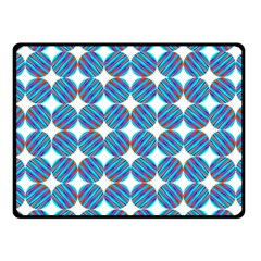 Geometric Dots Pattern Rainbow Fleece Blanket (small) by Nexatart