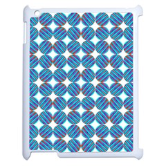 Geometric Dots Pattern Rainbow Apple Ipad 2 Case (white) by Nexatart