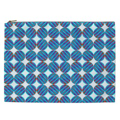 Geometric Dots Pattern Rainbow Cosmetic Bag (xxl)  by Nexatart