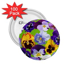 Spring Pansy Blossom Bloom Plant 2 25  Buttons (100 Pack)  by Nexatart