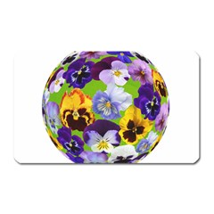 Spring Pansy Blossom Bloom Plant Magnet (rectangular) by Nexatart