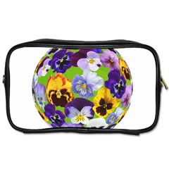 Spring Pansy Blossom Bloom Plant Toiletries Bags 2 Side by Nexatart