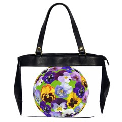 Spring Pansy Blossom Bloom Plant Office Handbags (2 Sides)  by Nexatart