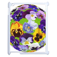 Spring Pansy Blossom Bloom Plant Apple Ipad 2 Case (white) by Nexatart
