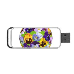 Spring Pansy Blossom Bloom Plant Portable Usb Flash (two Sides) by Nexatart
