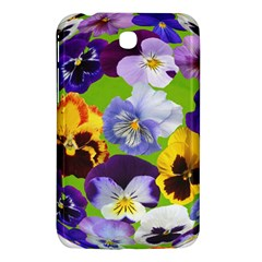Spring Pansy Blossom Bloom Plant Samsung Galaxy Tab 3 (7 ) P3200 Hardshell Case  by Nexatart
