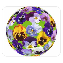Spring Pansy Blossom Bloom Plant Double Sided Flano Blanket (small)  by Nexatart