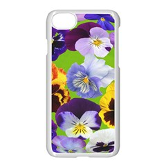 Spring Pansy Blossom Bloom Plant Apple Iphone 7 Seamless Case (white) by Nexatart