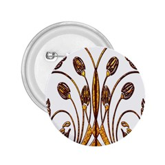 Scroll Gold Floral Design 2 25  Buttons