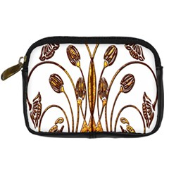 Scroll Gold Floral Design Digital Camera Cases by Nexatart