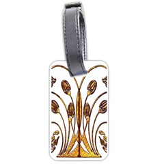 Scroll Gold Floral Design Luggage Tags (one Side)