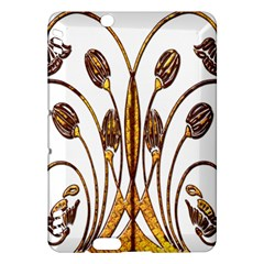 Scroll Gold Floral Design Kindle Fire Hdx Hardshell Case by Nexatart