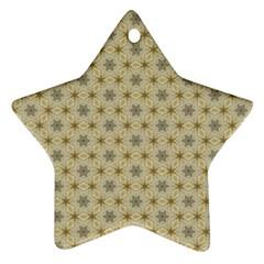 Star Basket Pattern Basket Pattern Star Ornament (two Sides) by Nexatart