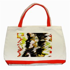 Canvas Acrylic Digital Design Classic Tote Bag (red) by Nexatart