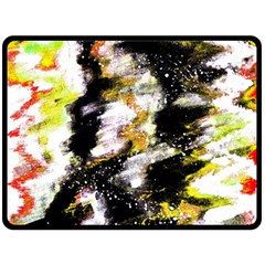 Canvas Acrylic Digital Design Double Sided Fleece Blanket (large)  by Nexatart