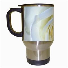 Flower White Rose Lying Travel Mugs (white) by Nexatart