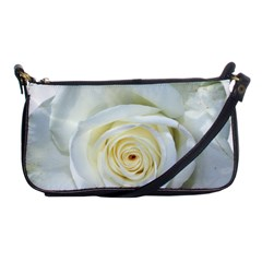 Flower White Rose Lying Shoulder Clutch Bags by Nexatart