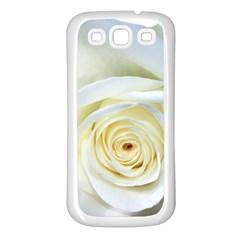 Flower White Rose Lying Samsung Galaxy S3 Back Case (white) by Nexatart