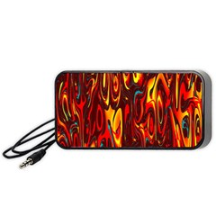 Effect Pattern Brush Red Orange Portable Speaker (black) by Nexatart