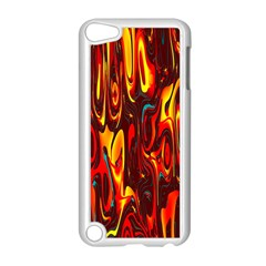 Effect Pattern Brush Red Orange Apple Ipod Touch 5 Case (white) by Nexatart