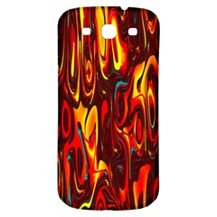 Effect Pattern Brush Red Orange Samsung Galaxy S3 S Iii Classic Hardshell Back Case by Nexatart