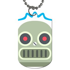 Robot Dog Tag (one Side) by BestEmojis