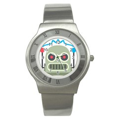 Robot Stainless Steel Watch by BestEmojis