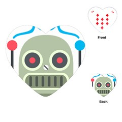 Robot Playing Cards (heart)  by BestEmojis
