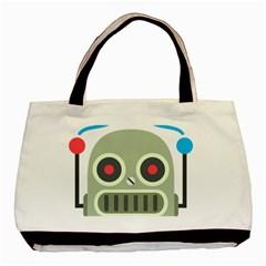 Robot Basic Tote Bag by BestEmojis