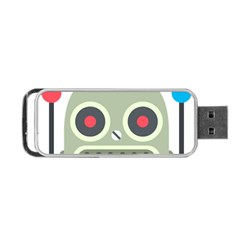 Robot Portable Usb Flash (one Side) by BestEmojis